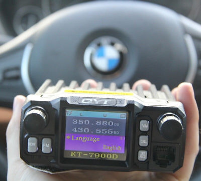 QYT KT-7900D Quad Band 25W 144/220/350/440 MHz Mini Car Radio Transceiver (Mini Quad Band)