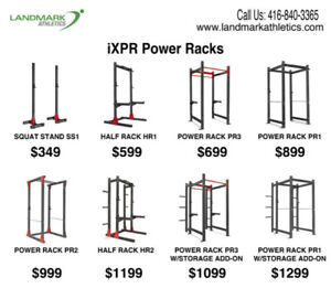 Fitness Racks- Power, Half Squat Rack, Commercial & Home Gym