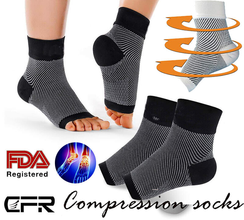 CFR Plantar Fasciitis Compression Socks Heel Foot Arch Pain
