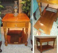 Immaculate Shape! Beautiful Oak Side Table / Bedside Table