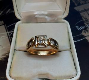 Men's 10kt. Gold Diamond Ring
