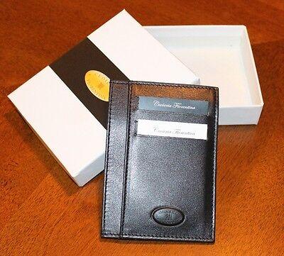 Cuoieria Fiorentina Slim Sleeve Wallet Premium Calf Leather Made in Italy