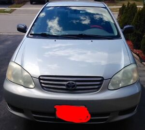2003 corolla ce as is - accident free