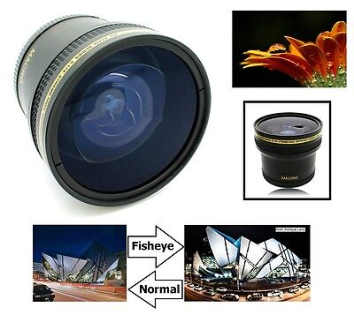 Super Hi Definition 0.17x Fisheye Lens With Macro For Canon EOS Rebel T8i 90D
