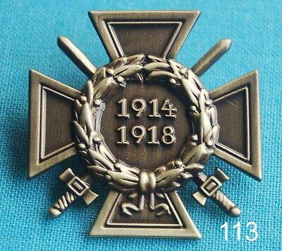 Frontkämpfer Eisernes Kreuz 1914 1918 Abzeichen Orden Militär Militaria Pin 113
