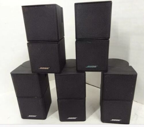 5 premium bose jewel cube speakers used condition black in color bose sound ebay. Black Bedroom Furniture Sets. Home Design Ideas