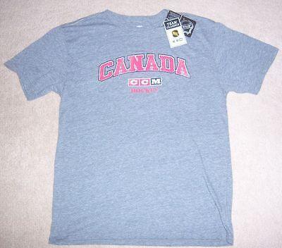 NEW CCM Vintage-Style TEAM CANADA Hockey SOFT THROWBACK Training SHIRT M jersey