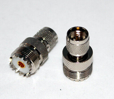 Mini Uhf Male To So 239 So-239 Uhf Rf Straight Adapter Us Stock Fast Ship