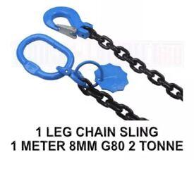 1 LEG CHAIN SLING - 1 MTR 2 TON