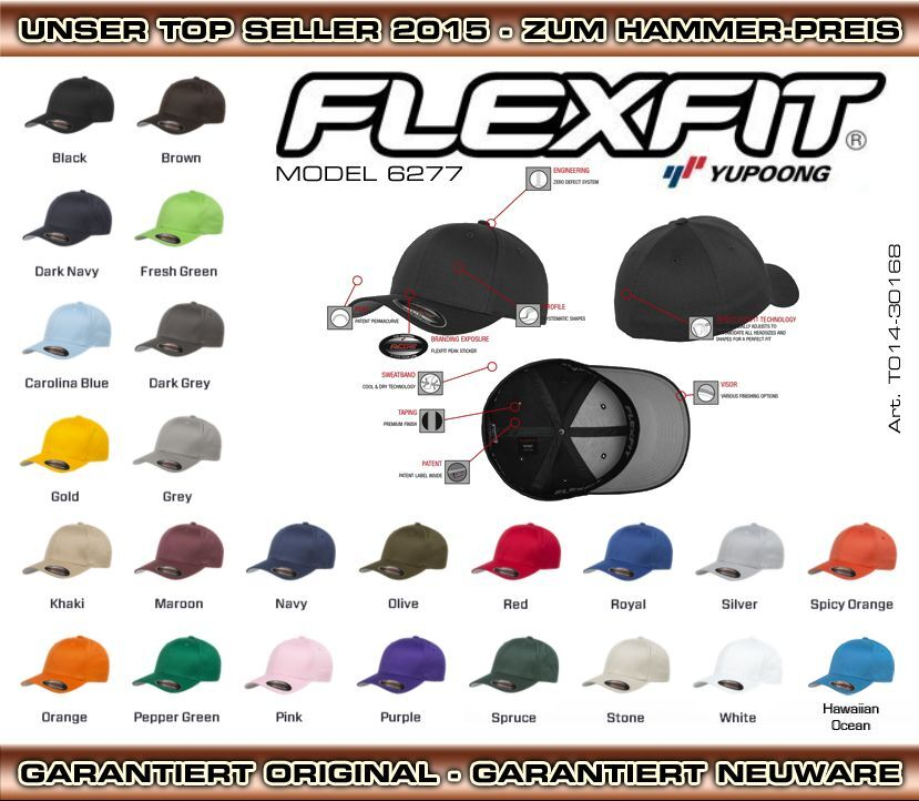 FLEXFIT ORIGINAL BASECAP CAP BASEBALL ★ DER HIT 2018 ★ NUR 1x VERSANDKOSTEN ★