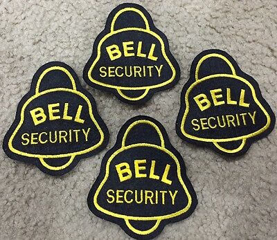 """(4) Bell Security 4"""" Embroidered Patch Lot NEW Bell Telephone"""