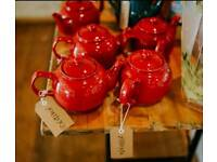 5 x Red 6 cup Price & Kensington teapots