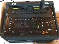 Soundlab Dual CD player CDJ2500 and Gemini PMX Stereo Preamp mixer in case