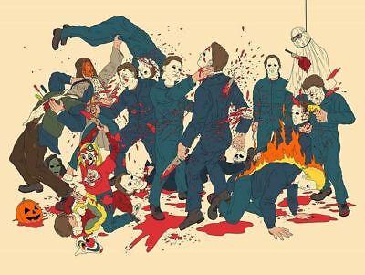 JJ Harrison Michael Myers Pumpkin Patch Poster IN HAND Halloween not - Harrison Halloween