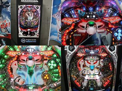 Macross Robotech Pachinko Machine Japanese Slot Balls Fever Zentradi Mech SDF-1