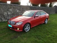 Mercedes-Benz C class AMG sport automatic red CDI diesel