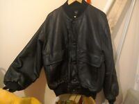 Real Leather Soft Great quality Men Winter Jacket Stretch cuff and waist and neck