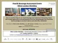 Hilton London Wembley - Food & Beverage - Conference & Banqueting - Assessment Centre