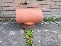 Vintage Kinson Pottery Ltd. Poole Terracotta Clay Bonnet Hood Rain