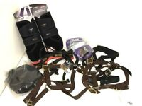 JOBLOT HORSE EQUESTRIAN & ACCESSORIES HEADCOLLARS, PADDED LEADS, SUPPORT BOOTS for sale  Bradford, West Yorkshire