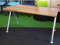 Verco visual acute walnut desk cheap office furniture