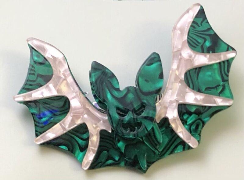 Unique Bat Halloween Brooch in acrylic