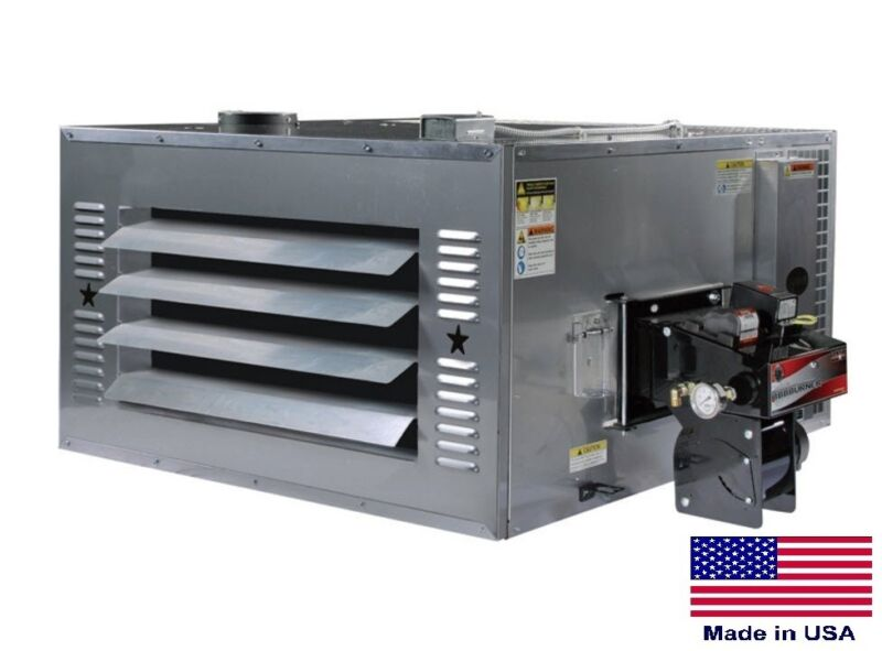 WASTE OIL HEATER Commercial - 200,000 BTU - Includes Thru Roof Chimney Kit