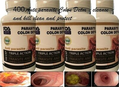Herbal Parasite Cleanse - Parasite Cleanse DETOX Liver Colon Yeast Blood KILL COLON CLEANSER HERBAL 400 Cp