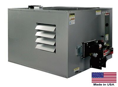 WASTE OIL HEATER Commercial Ductable - 300,000 BTU - Incl Thru Wall Chimney Kit