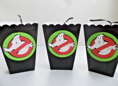 Ghostbusters Party Favor/ Goody Bags/ Sweet Table Candy/ popcorn box SET OF - Ghostbusters Candy