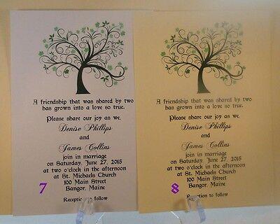 75 LIVING TREE OF LIFE WEDDING INVITATIONS+ 75 RSVP CARDS