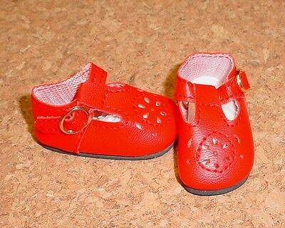 Baby Doll Shoes For Toddlers (Doll Shoes, 85mm RED T-Straps for Chatty Cathy, My Twinn Toddler Baby 20