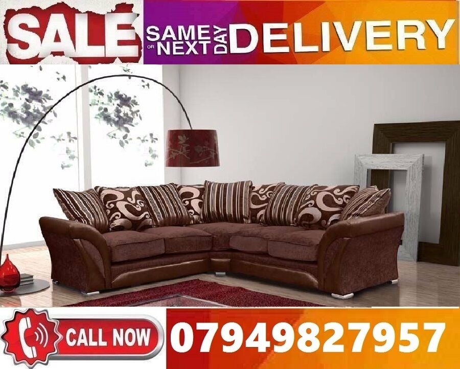 50% Off BRAND NEW CORNER FABRIC SOFA SUITE IN LEATHERETTE STYLEin Heathrow, LondonGumtree - Specifications Brand New High Quality Chenille Fabric Hardwood Frame Chrome Legs Foam Seats Dimensions Depth 75cm Height 75cm Width 230cm x 230cm 3 Seater Width 205cm 2 Seater Width 180cm Corner Sofa 359 3 2 Seater Sofa 359