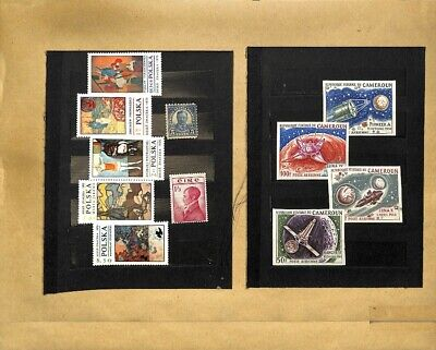 [OP7761] Worldwide lot of stamps on 12 pages