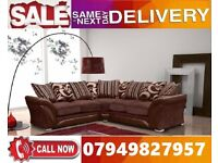 NEW OFFER 65% OFF 3 AND 2 SEATER BRAND NEW SHANNON CORNER FABRIC SUITE SOFA IN BEAUTIFULL COLOR