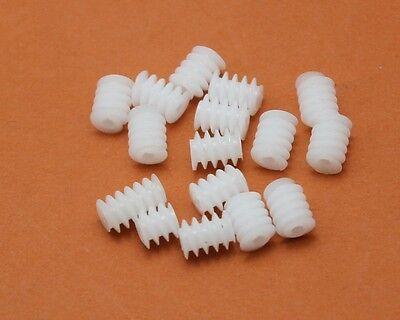 0.5 Modulus Plastic Worm Gear Ship Car Model Model Gear Diy Accessories 68-2a