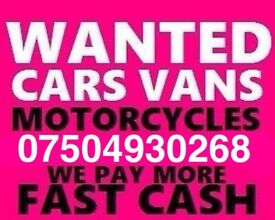 ☎️ 07504930268 WANTED CAR VAN MOTORCYCLE EVEN SCRAP BUY YOUR SELL MY FAST LONDON 3