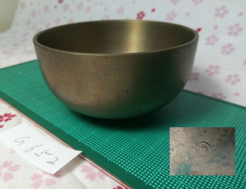 """Marked 3.622"""" Japanese Vintage Buddhist Bell Gong Rin G652 Gentle Tone"""