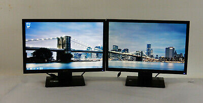 LOT of (2) Acer V193W EJb 19-Inch Widescreen Flat Panel LCD Monitors