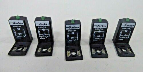 Parker PS1-E16-20B LED Indicator Pneumatic Suppressor (Pack of 5) PS1-E1620B