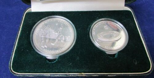 1988 Seoul Issue 2 - 1 oz Silver Volley Ball & 5 0z Silver Main Stadium