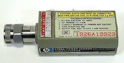 Hp - Hewlett Packard - 8481 A - Power Sensor- 100 Mw - Free Shipping