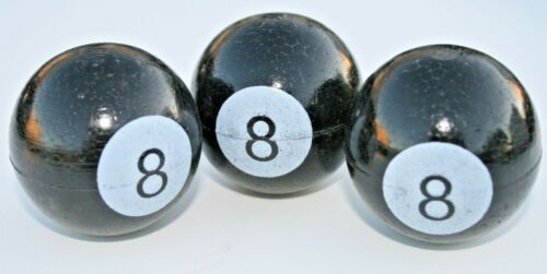 8 BALL Antenna Topper Set of 3  Ford Chevy Buick dodge hot rod custom