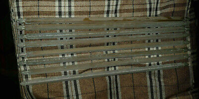 8 X 60 Cm Antique brass stair rods. Vintage Retro Original
