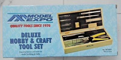 MODEL EXPO PRECISION TOOLS DELUXE HOBBY & CRAFT TOOL SET WITH BOX  MT 9001 NIB
