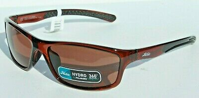 HOBIE Riptide POLARIZED Sunglasses Shiny Crystal Brown/Copper NEW Surf/Beach