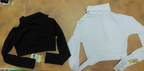 Capezio Microfiber Turtleneck Long Sleeve CropTop Cheerleader top 2 colors CHEER