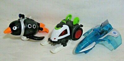 lot of 3 IMAGINEXT villain vehicles BANE battle sled Penguin sub Mr Freeze Jet