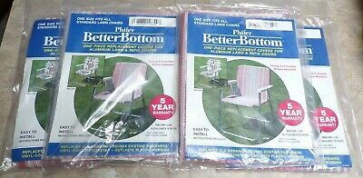 4 PHIFER BETTER BOTTOM 1 PIECE REPLACEMENT COVERS  ALUMINUM LAWN & PATION