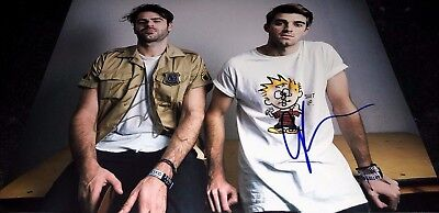 Andrew Taggart   Alex Pall The Chainsmokers Signed 11X14 Photo Coa Closer Proof
